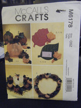 McCall's M6178 Pumpkins, Pumpkin Ornaments, Placemats & Napkin Rings Pat... - $8.02
