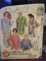 McCalls Misses Big Shirt in 3 Lengths Pattern - Size XS (4-6) Bust 29 1/... - £4.09 GBP