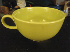 Mid Century Modern Universal Potteries Ballerina Lime Green Coffee Cup - $19.79
