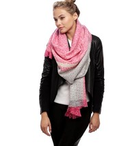Women's Fuchsia Color Block Boucle Over Sized Oblong Scarf - €11,13 EUR