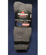 3 Pack Men's Wigwam Merino Wool Boot Cushioned Socks Made in USA  L - $23.33