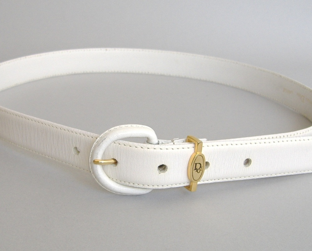 Belt white cd  45
