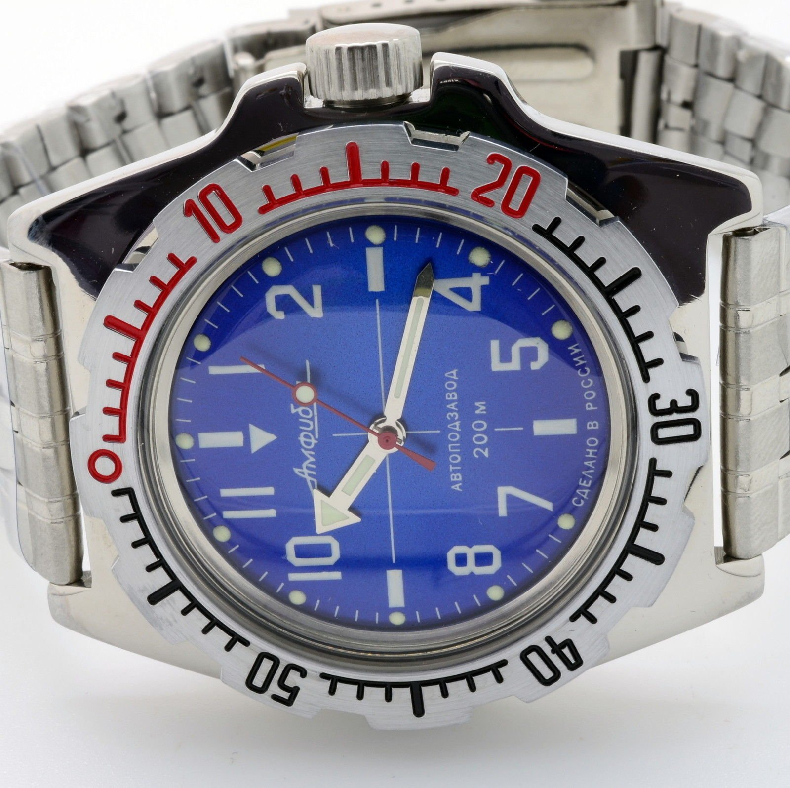 Vostok Amphibian 110648 / 2415b Scuba Diving Russian Watches Mechanical Autom...