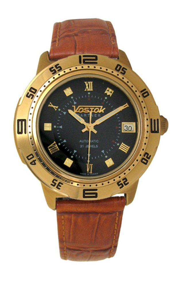Vostok Partner 319784 / 2414b Mechanical Auto Wrist Watch Shockproof Waterpro...
