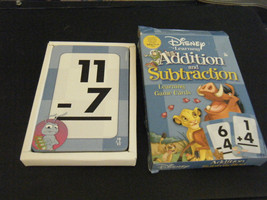 One Pack Disney Learning Addition and Subtraction Learning Game Cards - $6.92