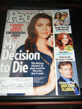 People Magazine - Brittany Maynard Decision to Die Cover - October 27, 2014 - $5.35
