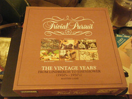 Parker Brothers Trivial Pursuit:  The Vintage Years (1920's-1950's) Master Game - $24.74