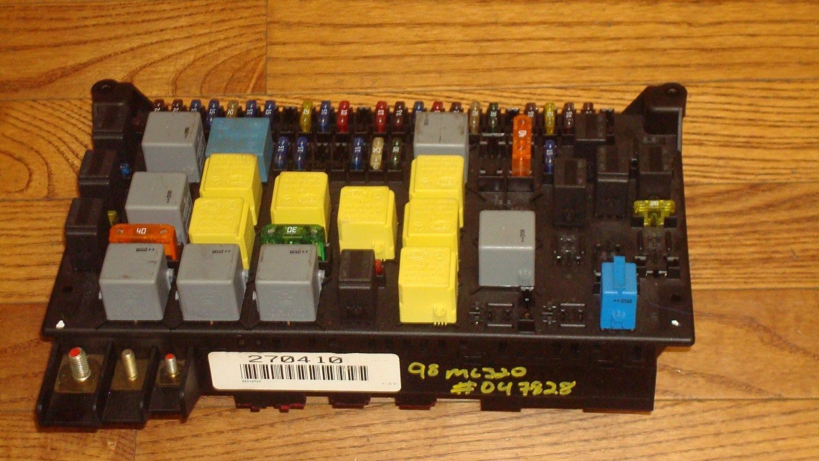 Mercedes Benz Ml430 Fuse Box Wiring Library 190e Diagram W163 Ml320 Oem Main Relay Panel A1635450205