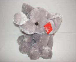 """2015 Aurora San Diego Zoo Safari Park Sitting Gray Elephant Plush Toy 11"""" - $14.85"""