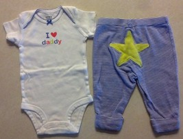 Girl's Size 3 M Months Two Piece Carter's Outfit I Love Daddy Top & Star... - $11.50