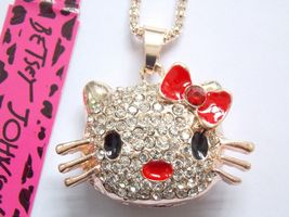 Crystal Kitty Cat Kitten Crystal Necklace Pendant ~ Free Ship/buy 2 get... - $9.99
