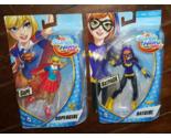 "2 x DC Super Hero Girls BATGIRL + SUPERGIRL 6"" Action Figures (2015)"