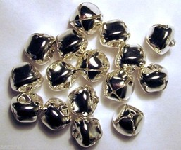 "Lot 100 Shiny Silver Jingle Bells  20mm (3/4"") ~ Metal Craft Holiday Bells - $12.35"