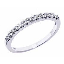 0.20 carat Diamond Wedding Anniversary Band Ring 10K White Gold Size 7.5 - £126.34 GBP