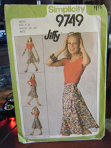Simplicity 9749 Misses Jiffy Front Wrap Skirt Pattern - Size P (6-8) Waist 23-24 - $8.91