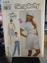 Simplicity Christie Brinkley 9108 Misses Pants & Shorts Pattern - Sizes 6/8/10 - $5.35