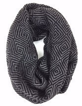 Women's Winter Scarves Dark Grey Maze Pattern Infinity Scarf - £7.57 GBP