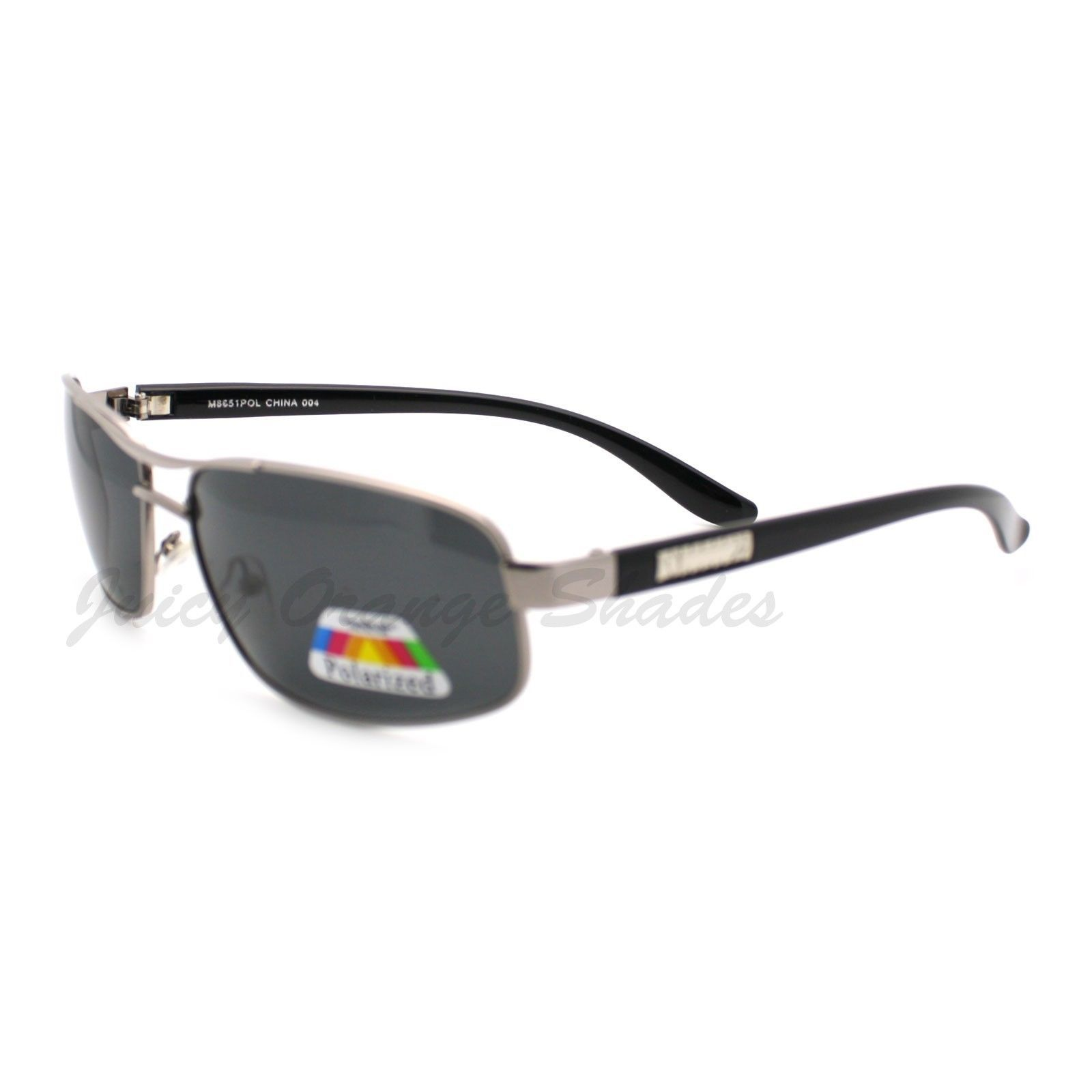 Polarized Lens Sunglasses Men's Oval Rectangular Fashion Frame