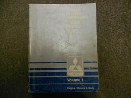 1987 MITSUBISHI Van Wagon Service Repair Shop Manual Volume 1 Engine Chassis OEM - $41.25
