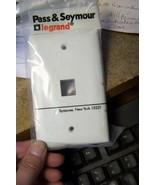 new pass & seymour KTPD1-W : KEYSTONE TRADEMASTER 1 PORT WHITE wallplate  - $1.49
