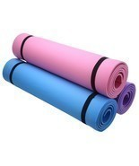"6mm Thick Non-Slip Yoga Mat Exercise Fitness Lose Weight 68""x24""x0.24"" B... - £11.73 GBP"