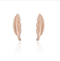 5 pairs of  Feather Rose Gold Plated Stud Earring Stud(NED210B) - $12.50