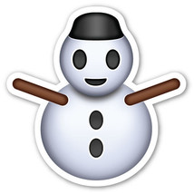 Emoji Snowman shaped vinyl sticker Christmas decorations santa thanks gi... - $3.00+