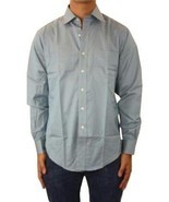 15 32/33 NWT Authentic Joseph Abboud Blue Egyptian Cotton Button Down Sh... - $1.191,10 MXN