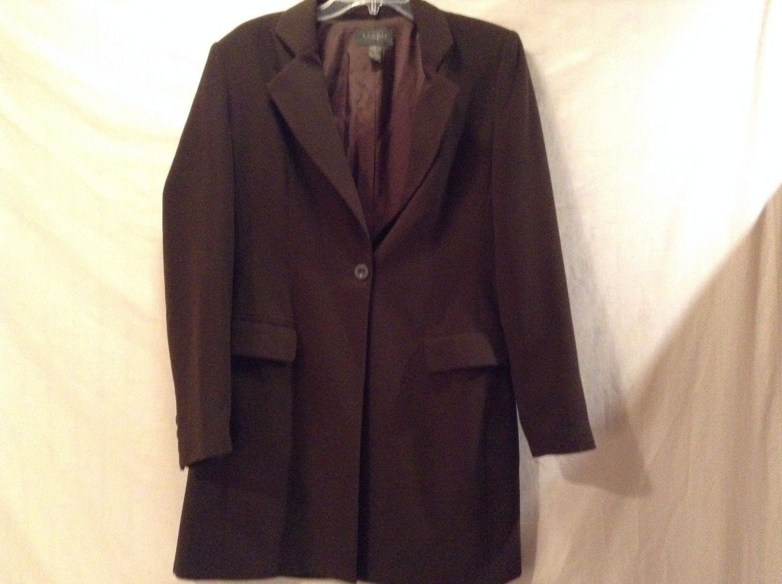 Used Great Condition Studio JPR 100% Polyester Size 8 Brown Suit Jacket