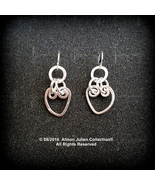 Heart Link Earrings in Sterling. Alison Julien Collection Original. MADE... - $39.00