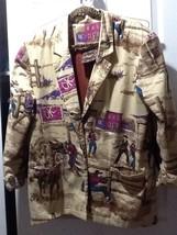 Circle T Jacket L Western Wear OK CORRAL SHOOTOUT COWBOYS GUNS HORSES me... - $39.59
