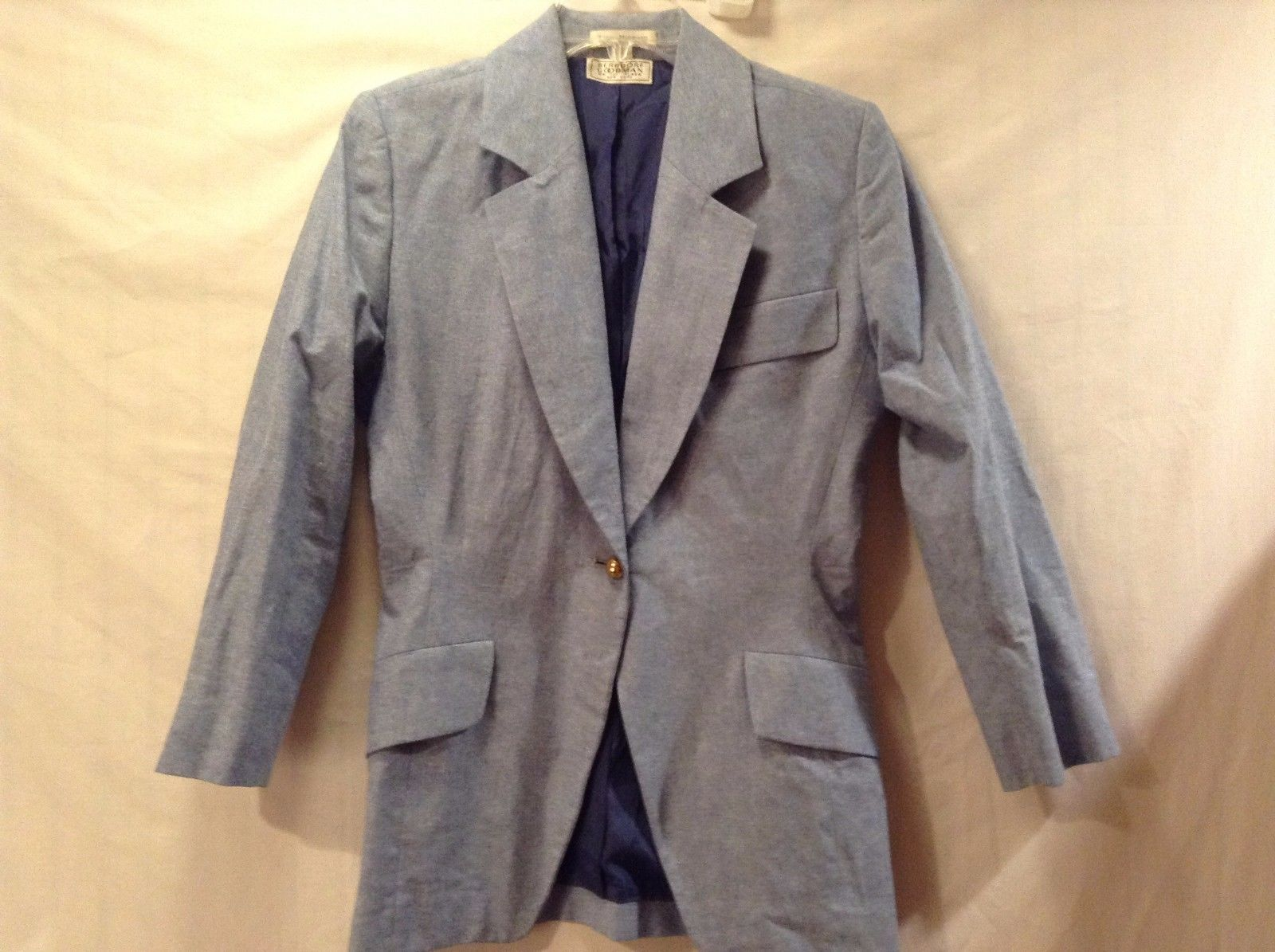 Used Great Condition Isaac Mizrahi Bergdorf Goodman Suit Jacket 4 Light Blue
