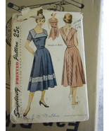 Vintage 1950's Simplicity 3552 Sun Dress Pattern - Size 14 Bust 32 - $15.16