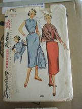 Vintage 1950's Simplicity 4785 Jumper & Jacket Pattern - Size 14 Bust 32 - $13.37