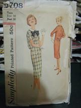 Vintage 1960's Simplicity  2708 Teen Size Dress Pattern - Size 10 - $9.25