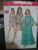 Vintage 1969 Simplicity 8458 Misses Robe Pattern - Size 8-10 - $7.56