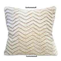 CUTWORK CHEVRON Sherpa Faux Fur Luxury Home Decor Accent Pillow 18 in x ... - $26.95