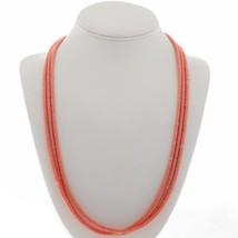 """HANDMADE NAVAJO Pink Heishi Necklace Angelskin Coral 3-Strands NECKLACE 25"""" - €202,49 EUR"""