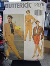 Vintage Butterick 5576 Misses Jacket, Top, Skirt & Pants Pattern - Sizes... - $5.35