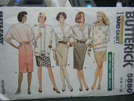 Butterick 5880 Misses Skirt Pattern - Size 6/8/10/12 - $5.35