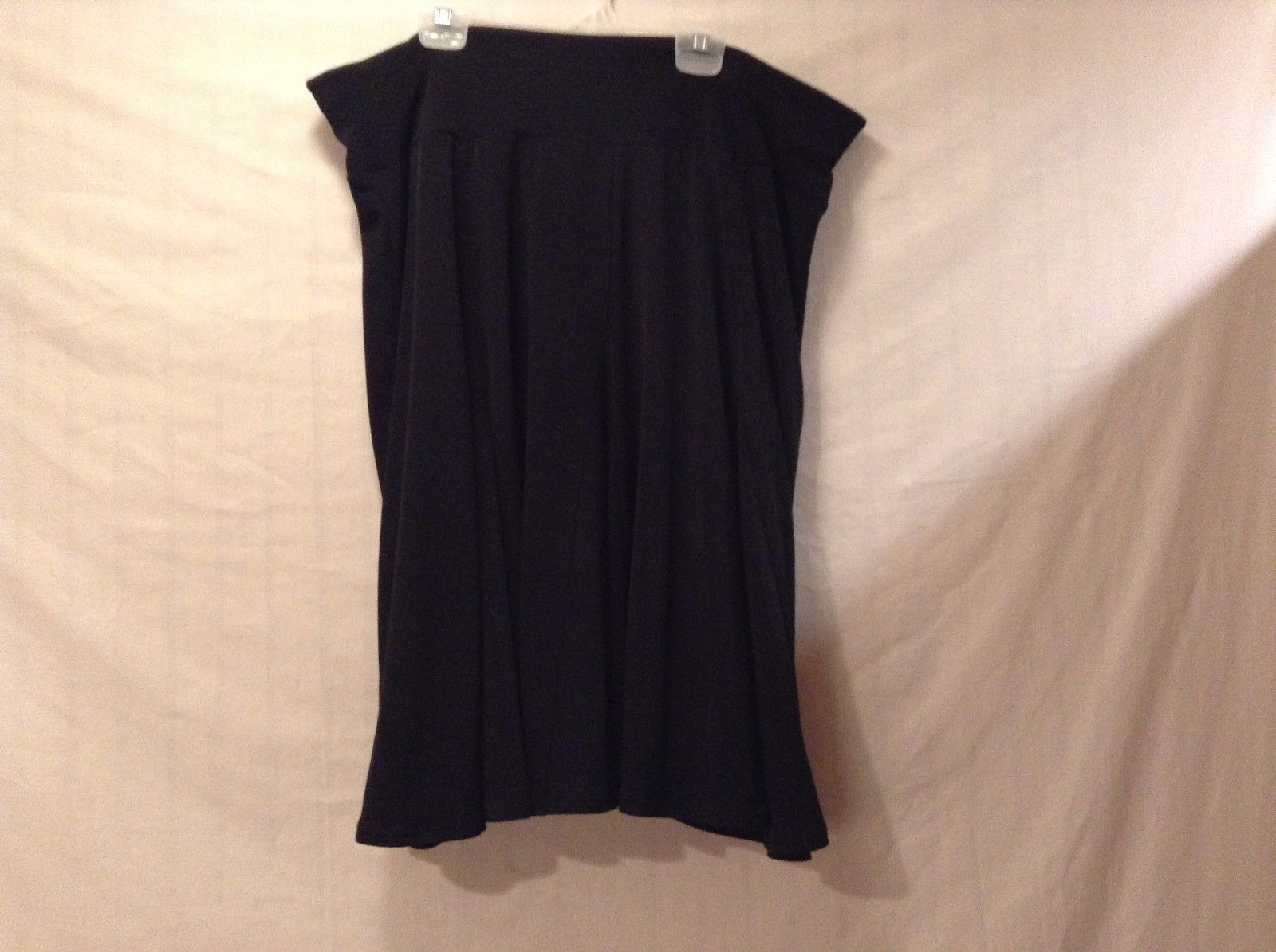 Used Great Condition Apt. 9 Stretch Large Black Polyester Blend Skirt