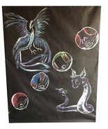 Pokemon Ver B Hand Painted Acrylic Backdrop 7x5 ft Haunted House Hallowe... - $130.67