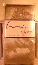 Linens 'n Things Autumnal Scroll Regal Gold Four Pack Fabric Napkins New - $4.00