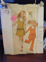 Vintage McCall's 2577 Girl's Jumper, Dress & Pants Pattern - Size 6 Ches... - $8.91