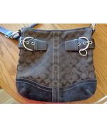 Coach Signature Canvas Leather Convertible Soho Crossbody Handbag 3574 B... - $29.99