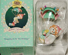 """1994 Precious Moments Holiday Expressions """"Dropping in For The Holidays"""" Ornamen - $7.92"""