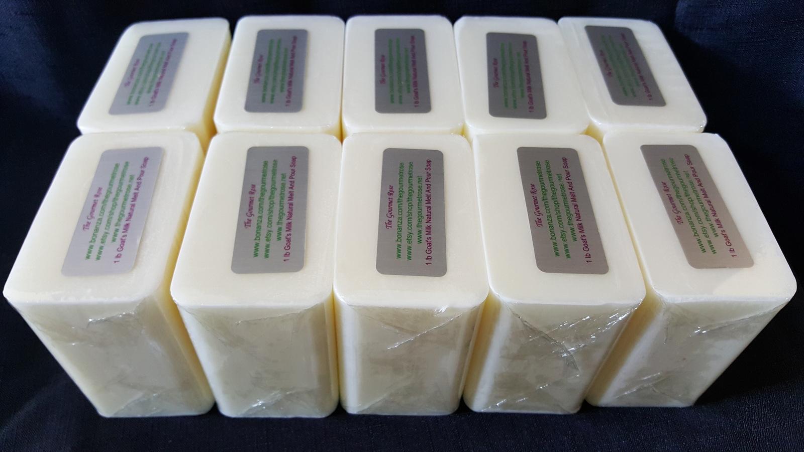10 lb GOAT'S MILK MELT AND POUR 100% All Natural Soap Base Goat BULK WHOLESALE The Gourmet Rose