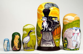 """Hey! Get Off Our Train! Nesting Doll - 6"""" w/ 5 Pieces - $36.00"""