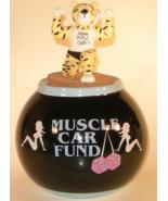 Amscan Muscle Car Fund Black Ceramic Jar Money ... - $15.00