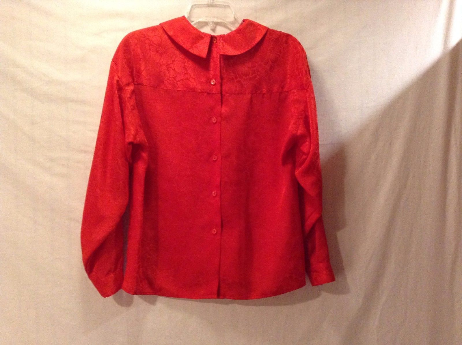 Used Great Condition Bonnie & Norma Size 8 Red Floral Pattern Button Up Shirt